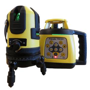 Rotary Laser Level FRE301 Kit + Green Beam Multi Line Laser Combo